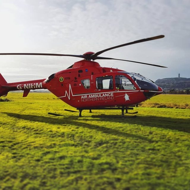 helimed rescue helicopter northernireland northern ireland newtownards airport scrabo towerhellip