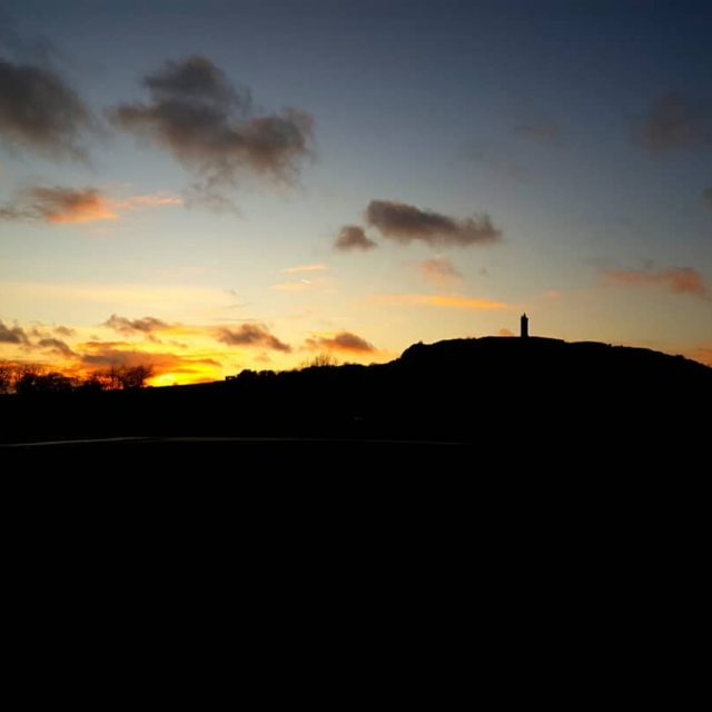 Evening sunset behind scrabo tower sunset scrabo tower newtownards airporthellip