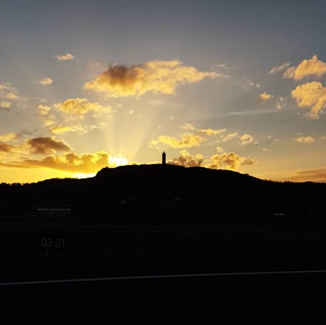 Sunset over newtownardsairport ulsterflyingclub avation planes spring sunset scrabo towerhellip